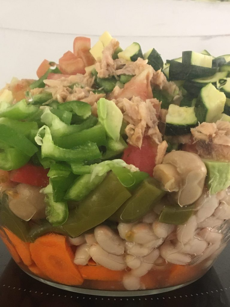 ensalada cocina sin gastar luz
